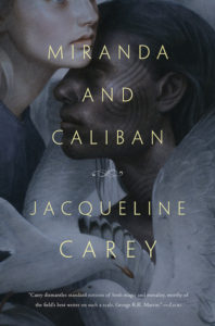 A book cover with a dark background and darkened images, a dark skinned boy is embraced by a white skinned girl, there are feathered birds at the bottom of the image.